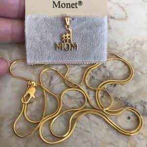 """Monet Pendant on 30"""" 18KGP Chain"""